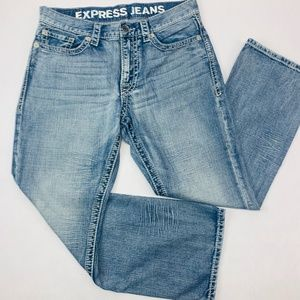 Express Jeans Mens 32 x 30 Blue Blake Loose Fit